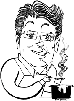 David Leite caricature