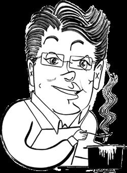 David Leite caricature