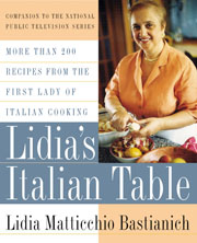 Buy the Lidia's Italian Table cookbook
