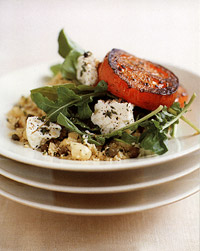 Mint Couscous with Fried Tomatoes