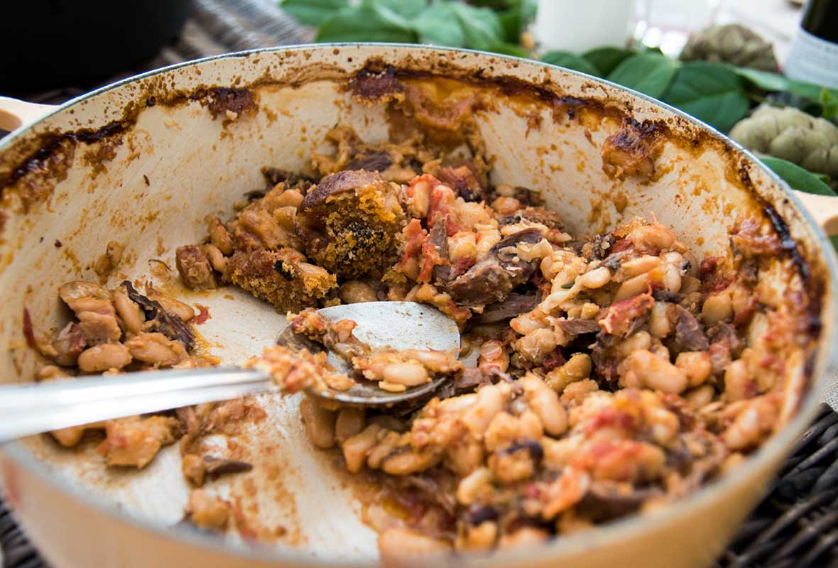 Cassoulet of White Beans, Sausage, and Duck Recipe