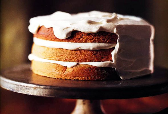 Walnut Torte with Whipped Cream