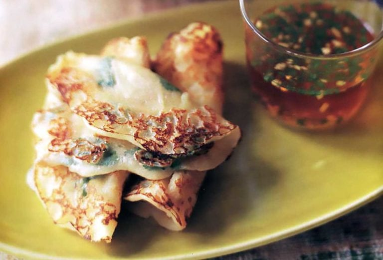 Savory Bangkok Waffles