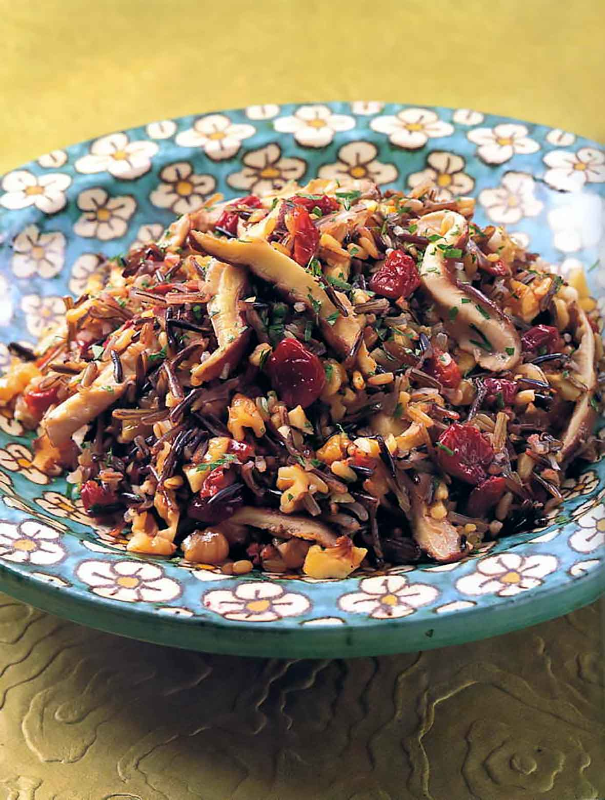 Wild Rice with Mushrooms and Cranberries