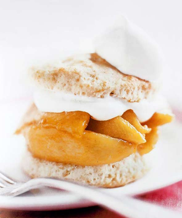 Spiced Peach Shortcakes