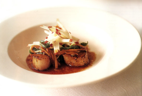 Seared Scallops with Cider Brown Butter