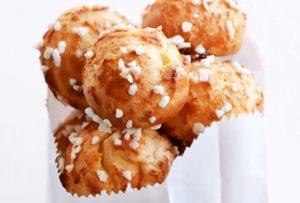 Cream Puffs with Pearl Sugar