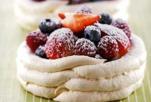 Meringue Cups, Lime Cream, Fresh Berries