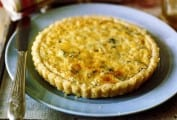 Leek, Corn, and Mascarpone Tart