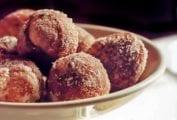 Florentine Doughnuts with Vanilla Custard