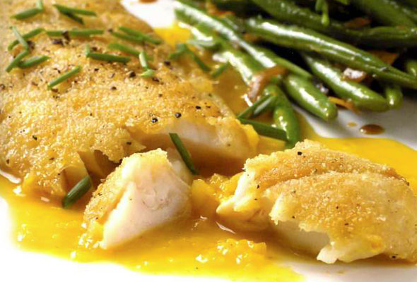 Crispy Rock Cod with Citrus Sauce