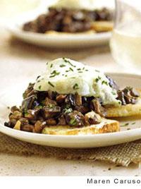 Mushroom Toasts with Rocchetta