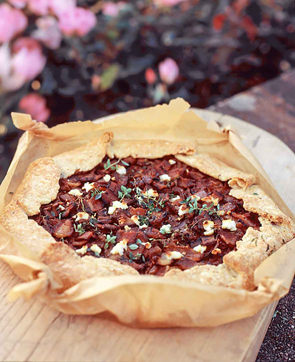 Bacon Goat Cheese Tart