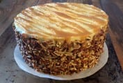 Apple-Spice Layer Cake with Caramel Sauce