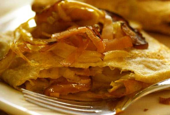 Apples and Gruyere Cheese Crepes