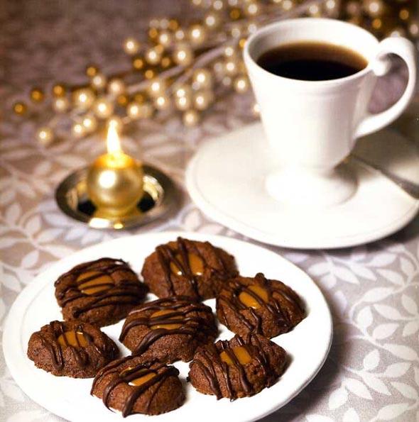 Chocolate Caramel Thumbprint