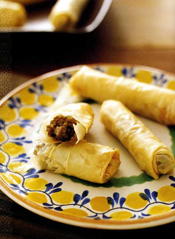 Lamb and Olive Stuffed Phyllo Dough