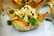 Spicy Crab in Wonton Cups