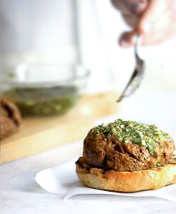 Olive-Lamb Burger