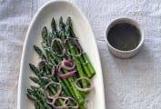 Asparagus Raspberry with Shallot Vinaigrettte