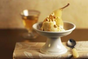 Amaretto-Poached Pear Gelato