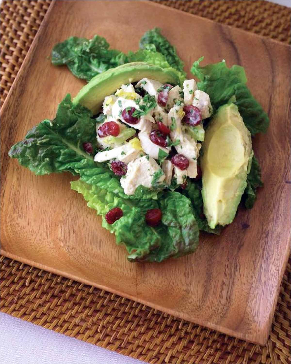 Chicken Avocado Cranberry Salad Recipe