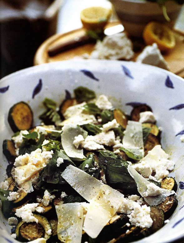 Zucchini with Ricotta, Mint, and Basil