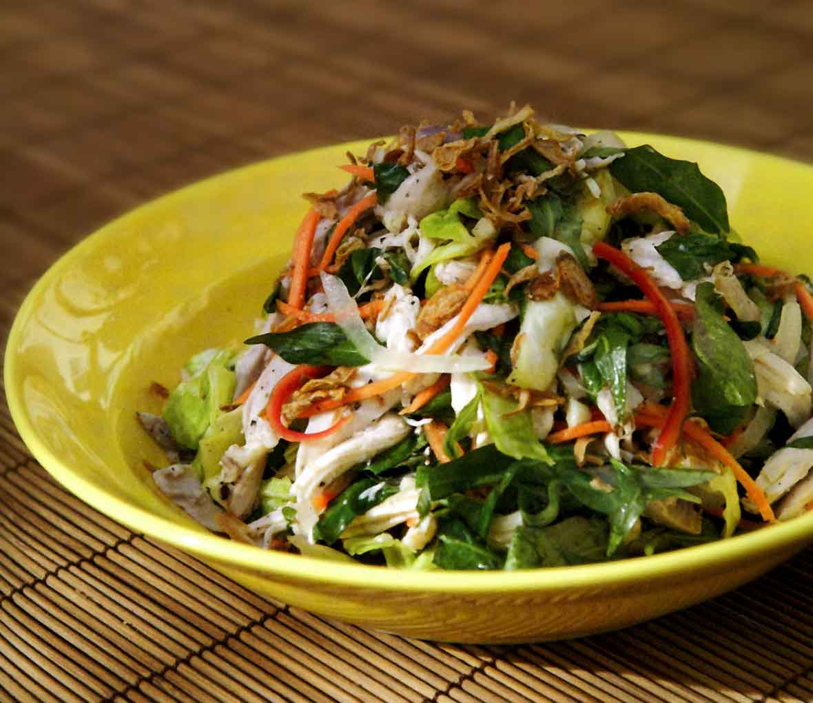 Poached Chicken and Cabbage Salad