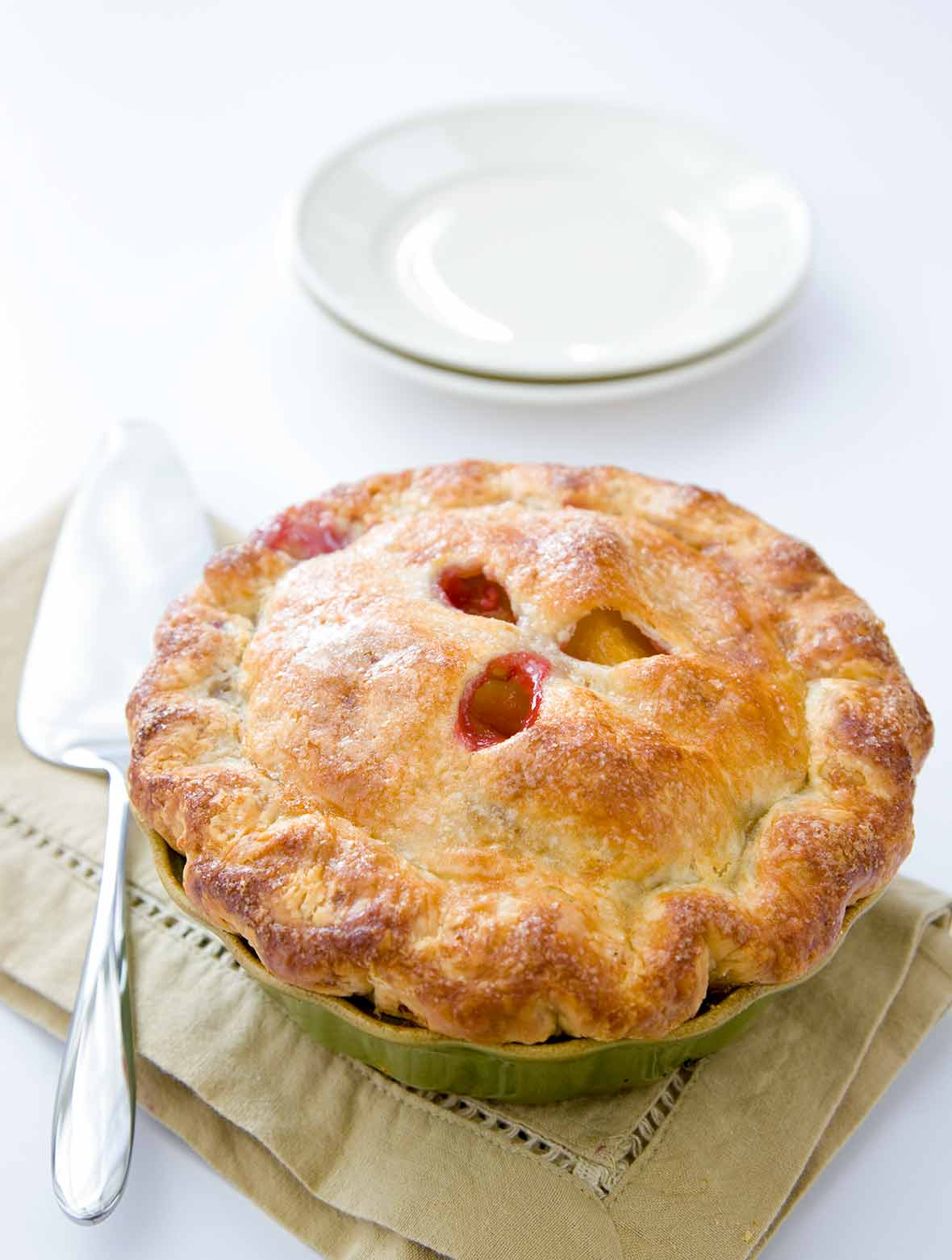 Raspberry-Nectarine Pie