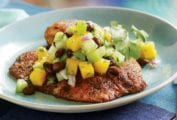Spice-Rubbed Tilapia with Mango Salad