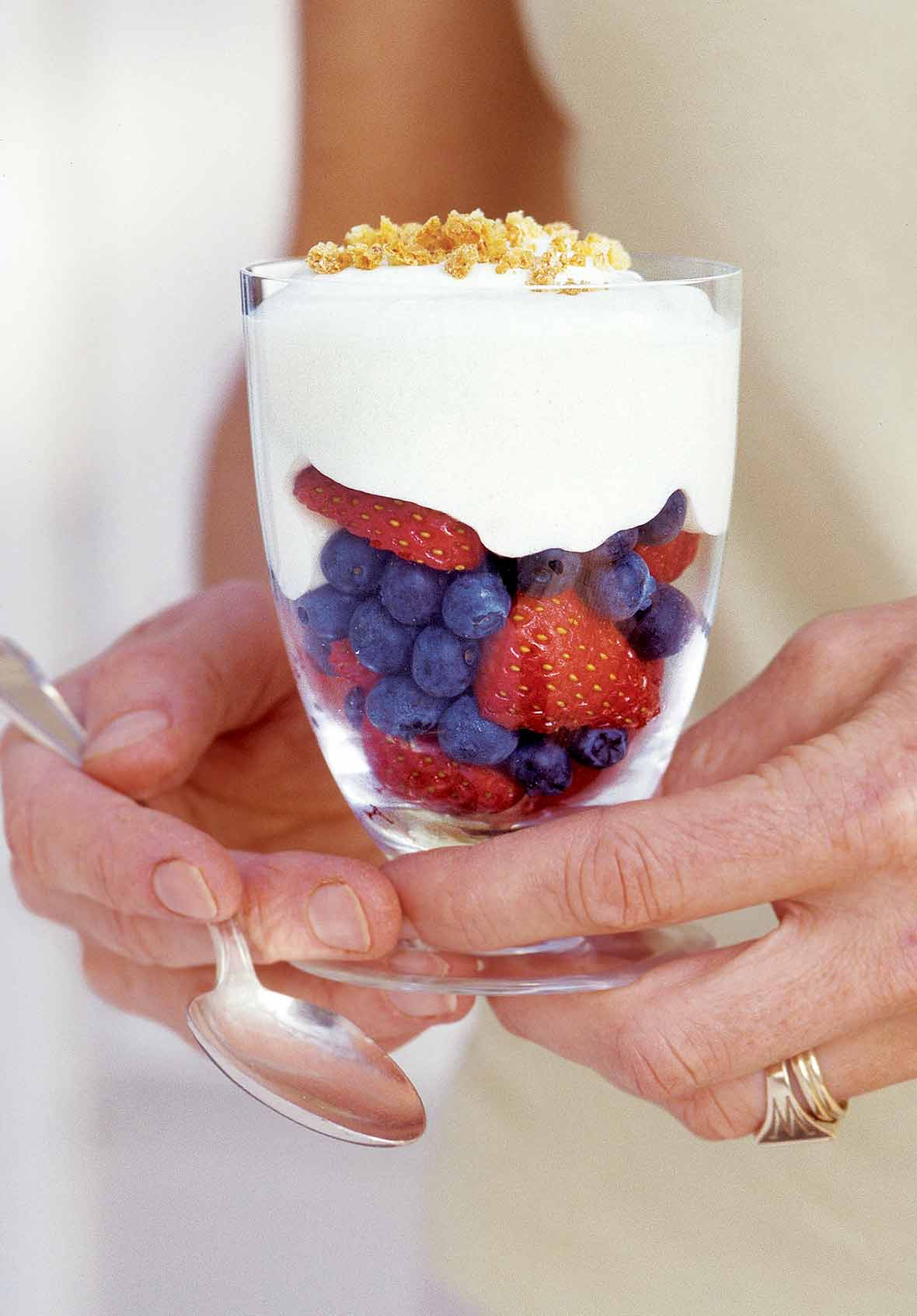 Zabaglione with Summer Fruit