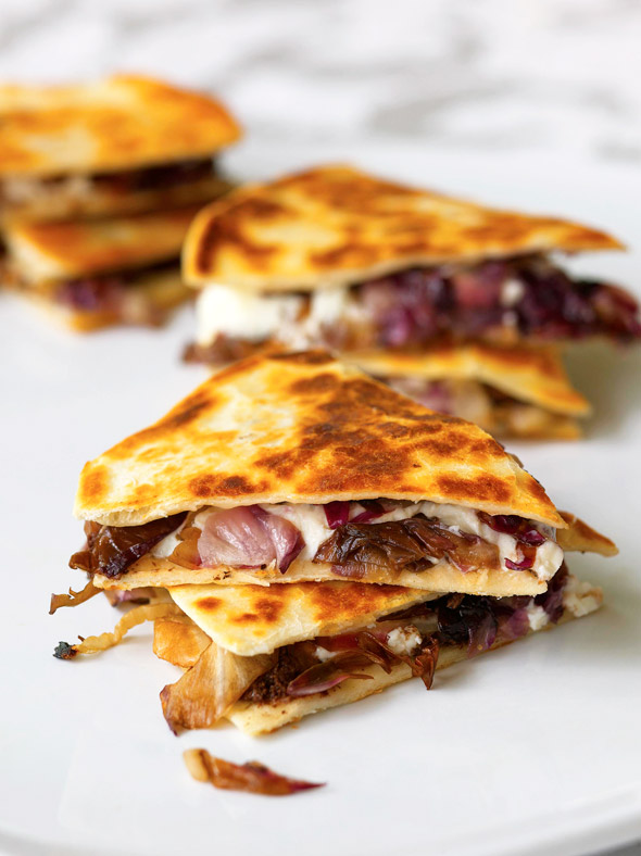 Goat Cheese-Radicchio Quesadillas