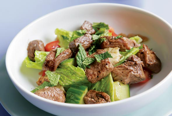 Grilled Lamb Salad