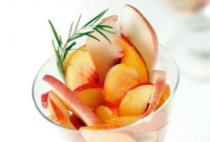 Peaches and Nectarines with Rosemary Honey Syrup