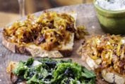 Caramelized Onion-Balsamic Vinegar Bruschetta