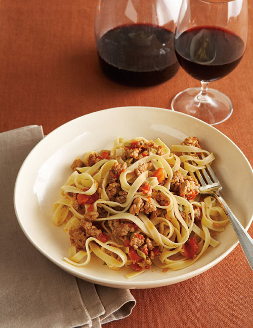Fettuccine with a Savory Veal Sauce