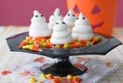 Ghostly Halloween Meringues