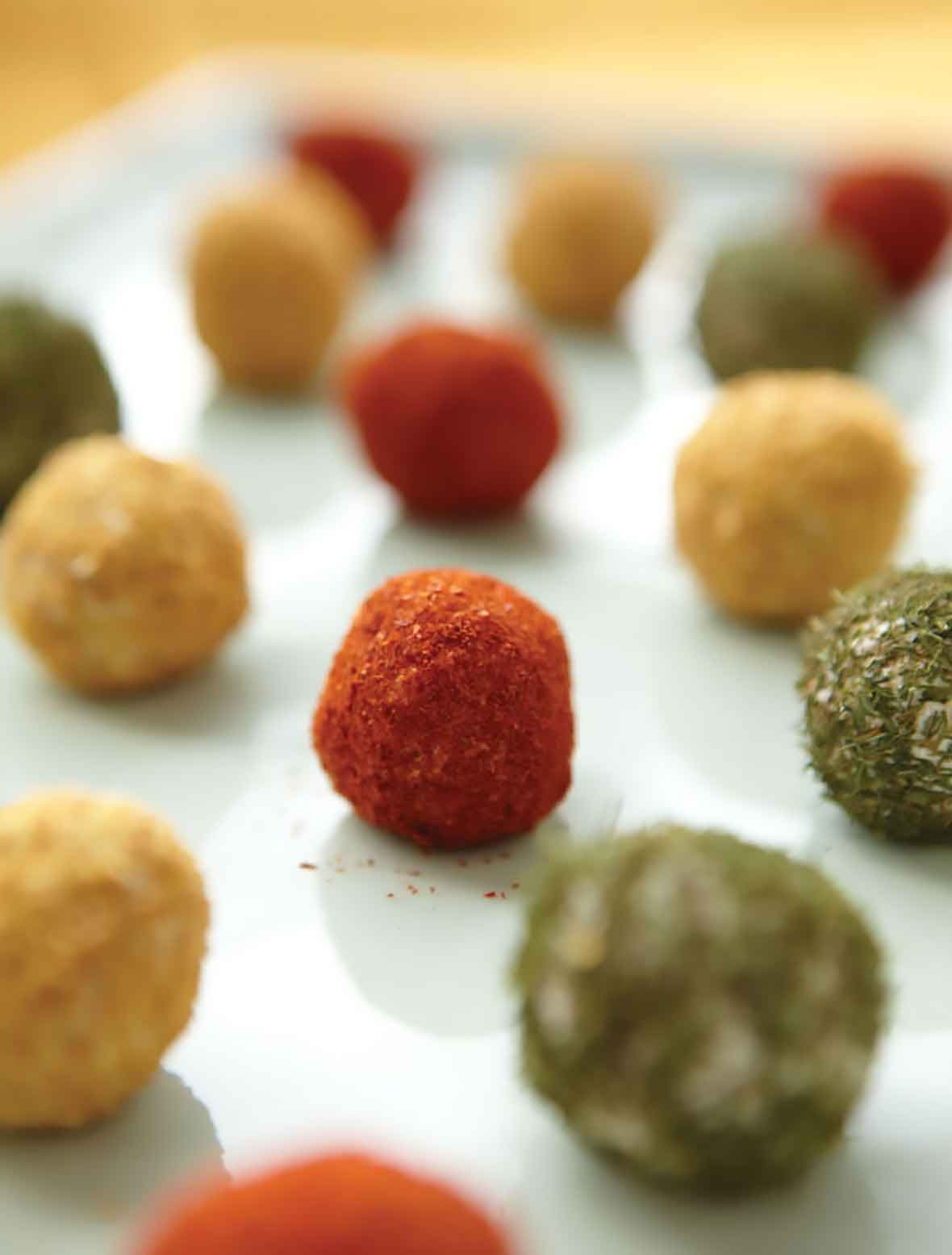 Spice-Crusted Cheese Truffles