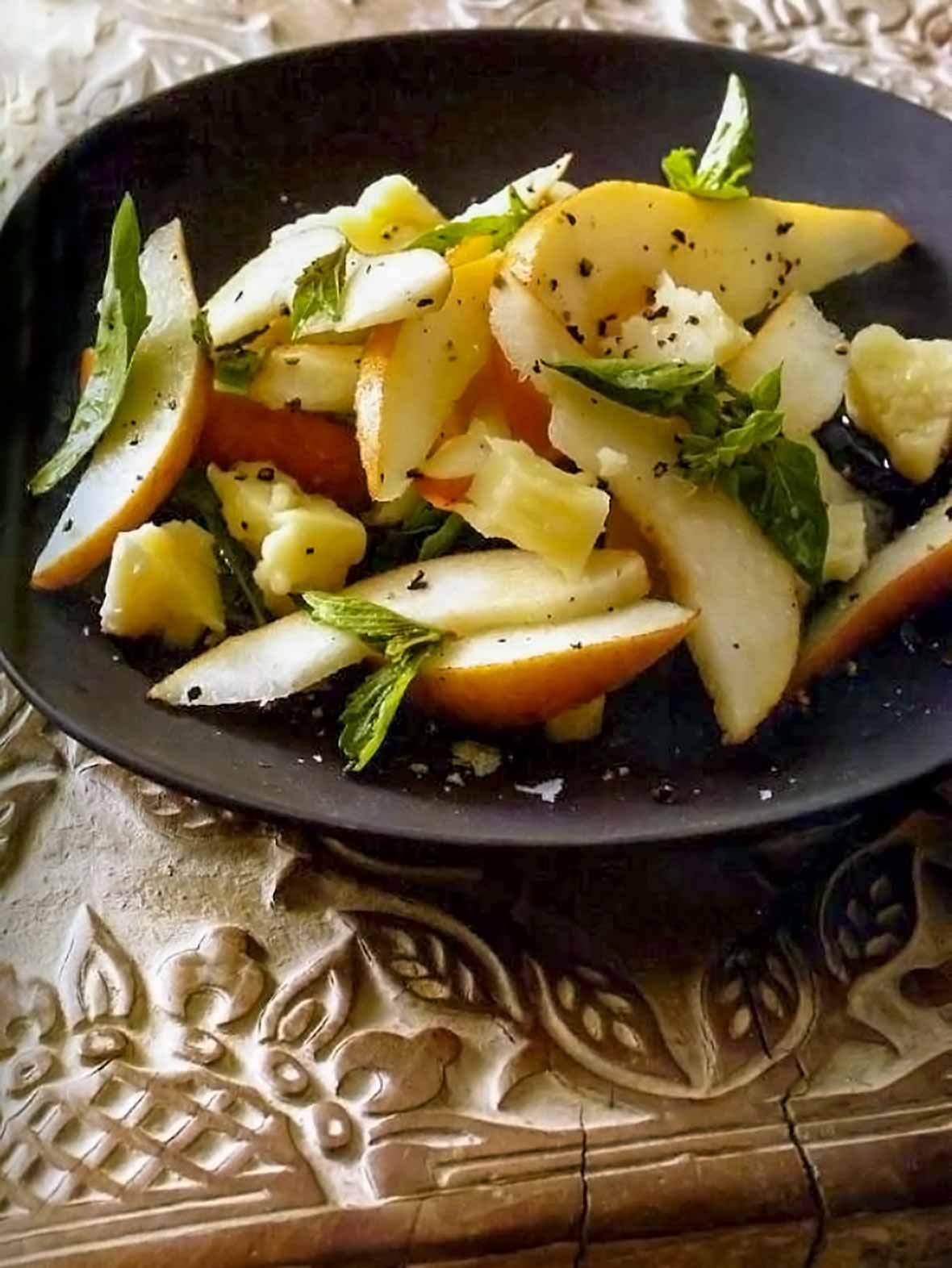 Pear Basil Pecorino Toscano Salad
