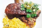 Braised Short Ribs with Pumpkin Orzo