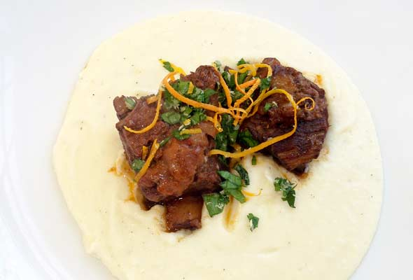 Braised Short Ribs with Truffled Mashed Potatoes Recipe