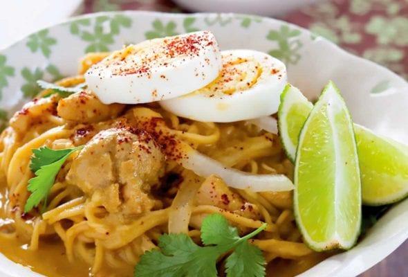 Chicken Coconut Noodle Soup