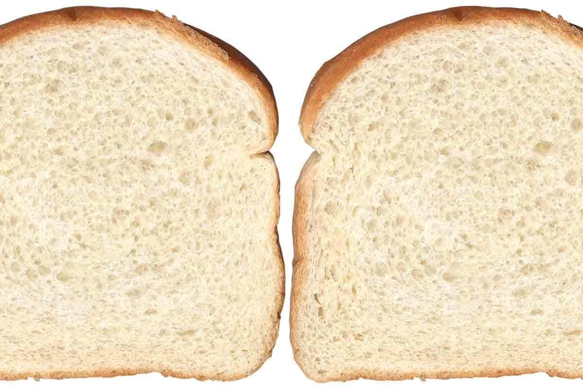Two slices of white bread.
