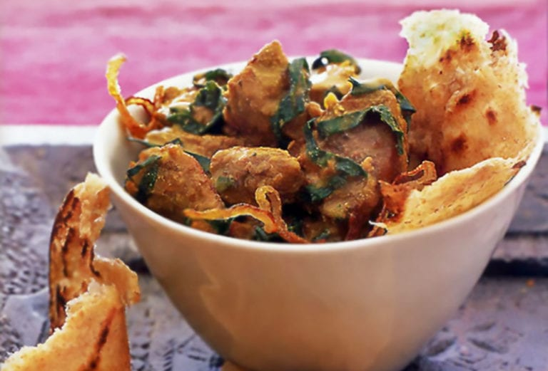 Moghlai Lamb With Spinach