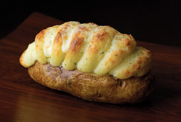 Twice Baked Potatoes with Cheddar