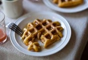 Maple Oat Waffles