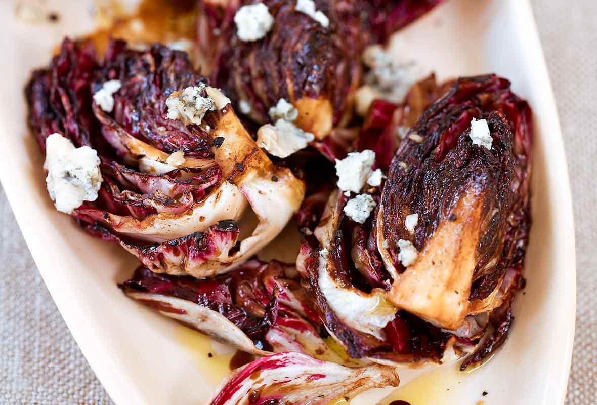 Grilled Radicchio Salad with Gorgonzola Recipe   Leite's ...