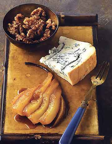 Gorgonzola Dolce with Roasted Pears and Spiced Walnuts