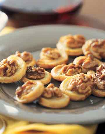 Stilton Pinwheels With Walnuts and Honey