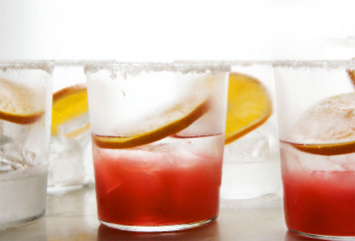 Rhubarb and Tequila Cocktail